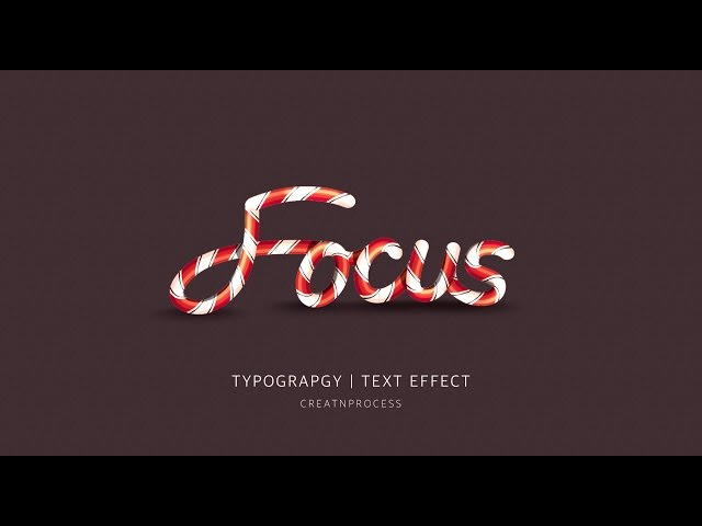 Typography | Text Effect | Adobe Illustrator | Focus ( part 1 )
