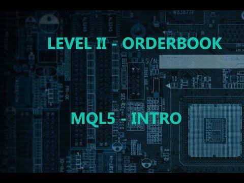 Order Book y Time and Sales en MQL5 - Intro