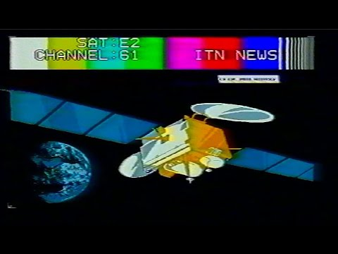 Analogue Satellite TV bandscan 1993 Europe SW Finland  Manhattan 9000 Receiver with 3 m polarmount
