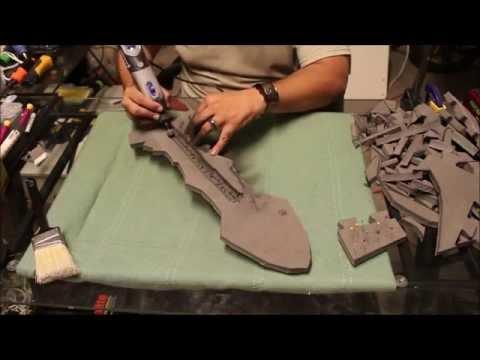 Crafting a Foam Sword Part 1 (Cutting the Foam) - Craft Dad