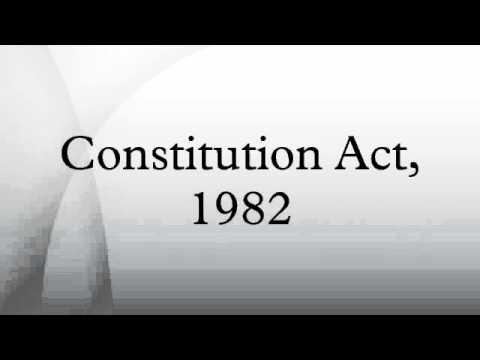 Constitution Act, 1982
