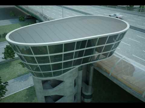 Doojin Hwang Architects: CG Video of the Han River Bridge Bus Stop & Cafe