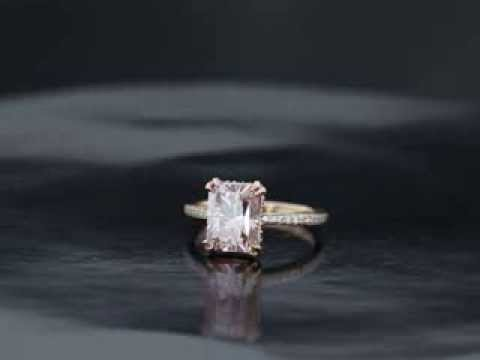 U.R. Rose Gold Barely Pink Engagement Ring