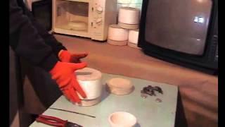 Плавка стекла и алюминия в микроволновке. _  Melting glass and aluminum in the microwave.(С помощью специальной печи и микроволновки можно заниматся фьюзингом и литьем цветных металлов в домашних..., 2014-03-09T19:49:49.000Z)