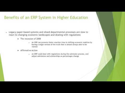 Enterprise Resource Planning ERP Systems in Higher Education