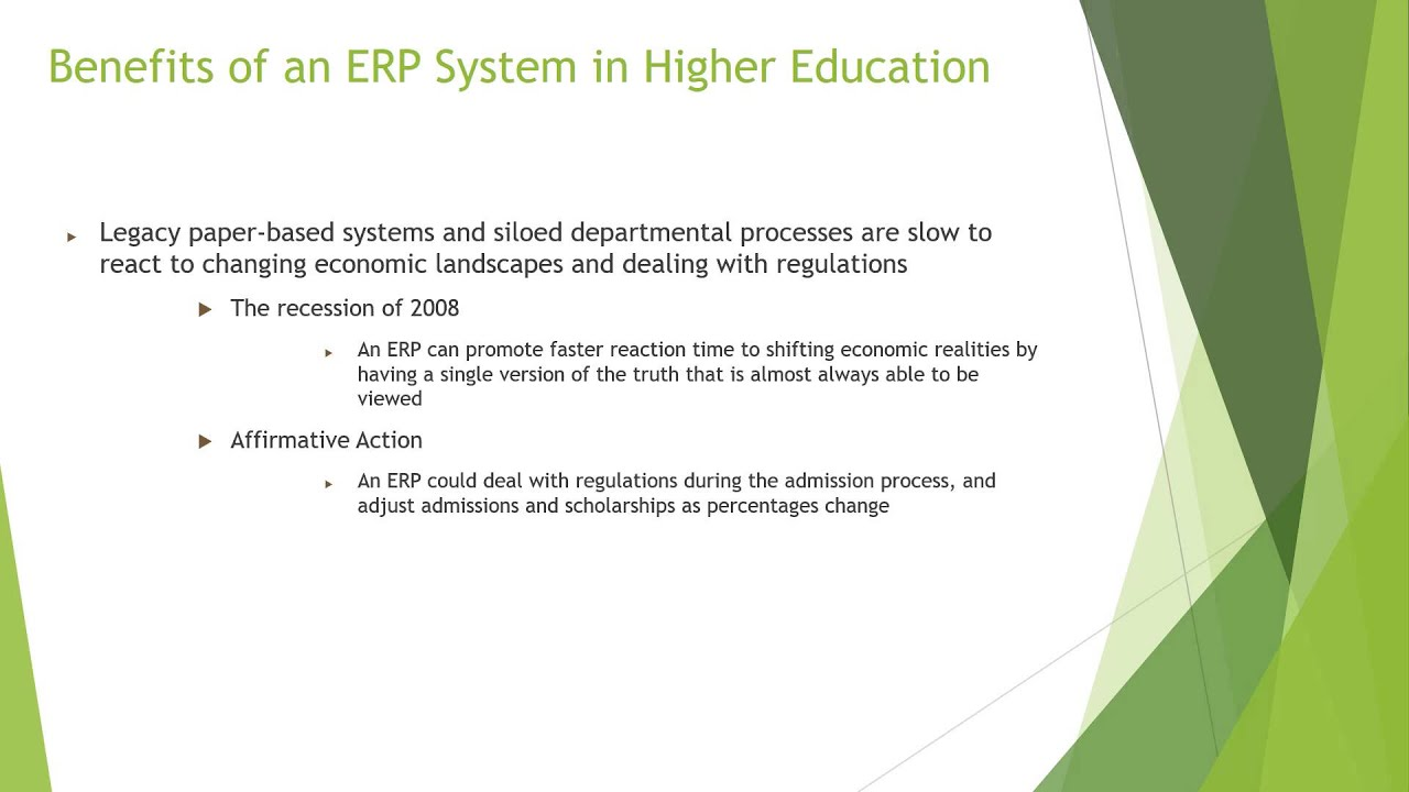 Enterprise Resource Planning ERP Systems in Higher ...