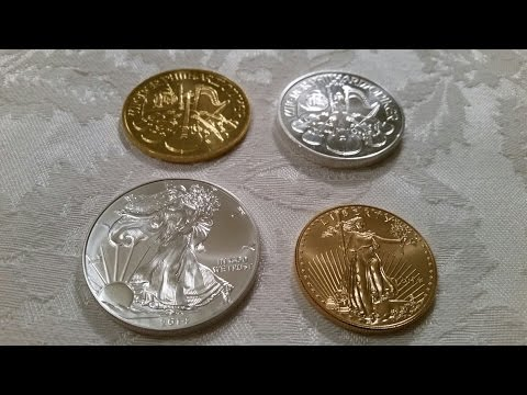 Silver and Gold Coin Comparison From My Stack.