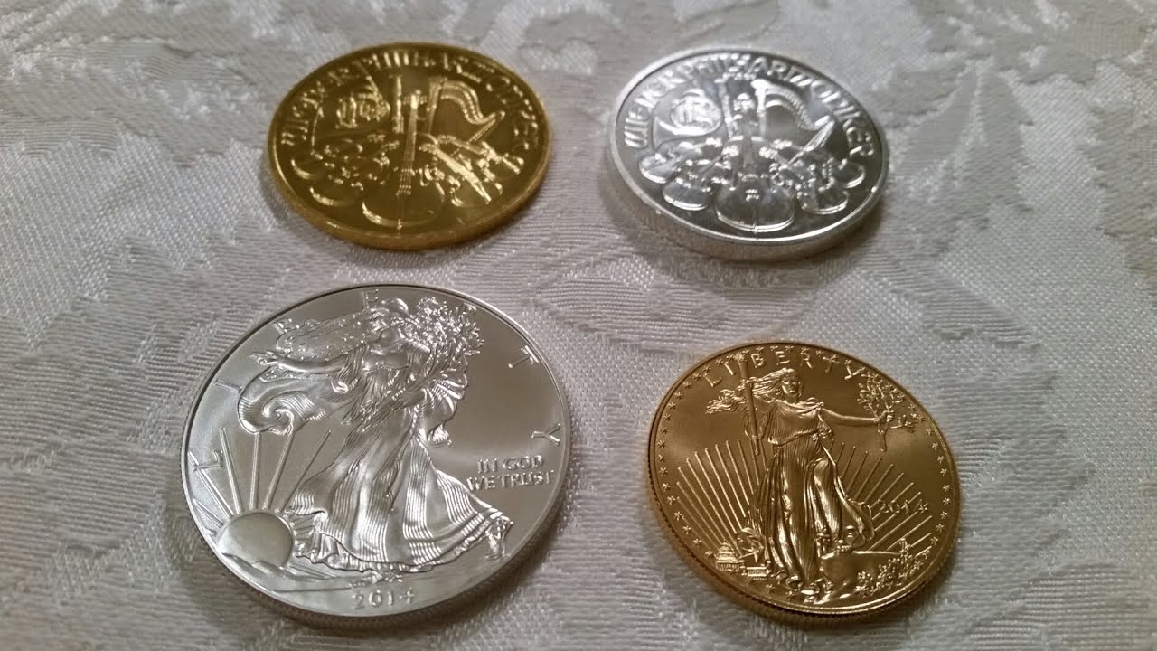 Silver And Gold Coin Comparison From My Stack Youtube