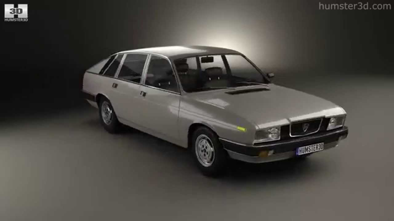 Lancia Gamma Berlina 1976 by 3D model store Humster3D.com - YouTube