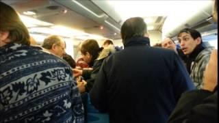 Caos en avión de Aerolineas Argentinas