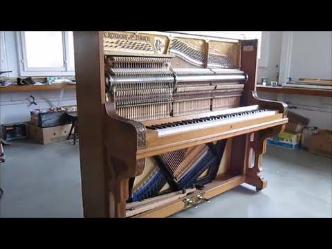 Réparation d'un piano droit Rordorf de 1905 avec mécanique Hybride