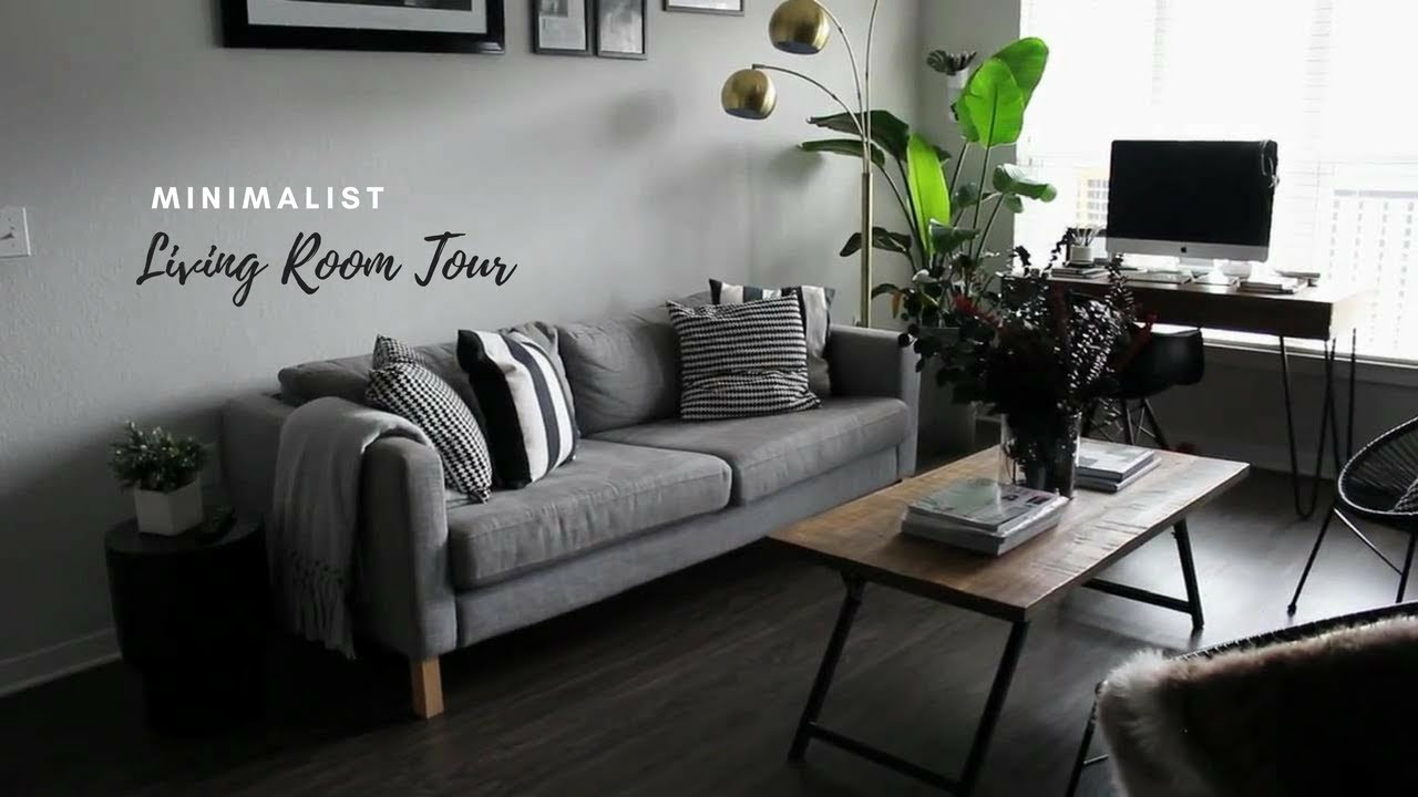 TINY MINIMALIST APARTMENT LIVING ROOM TOUR