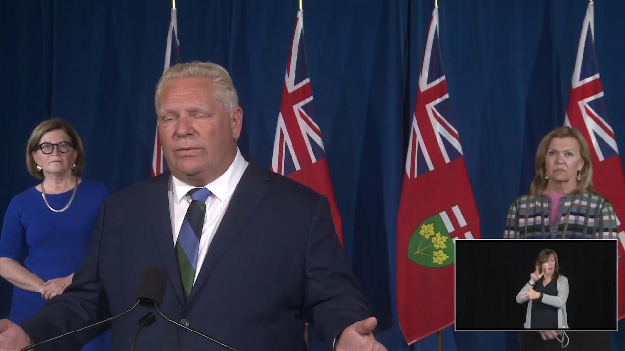 Ontario Premier Doug Ford Provides COVID-19 Update | September 21