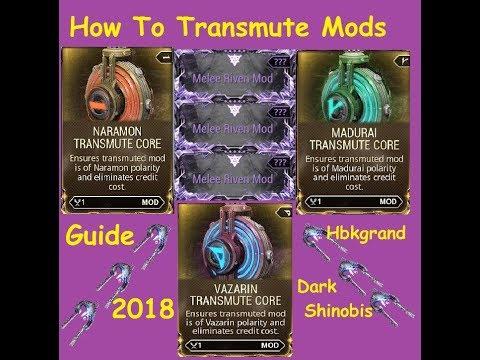 Warframe - How To Trans-mutate Mods - 2018