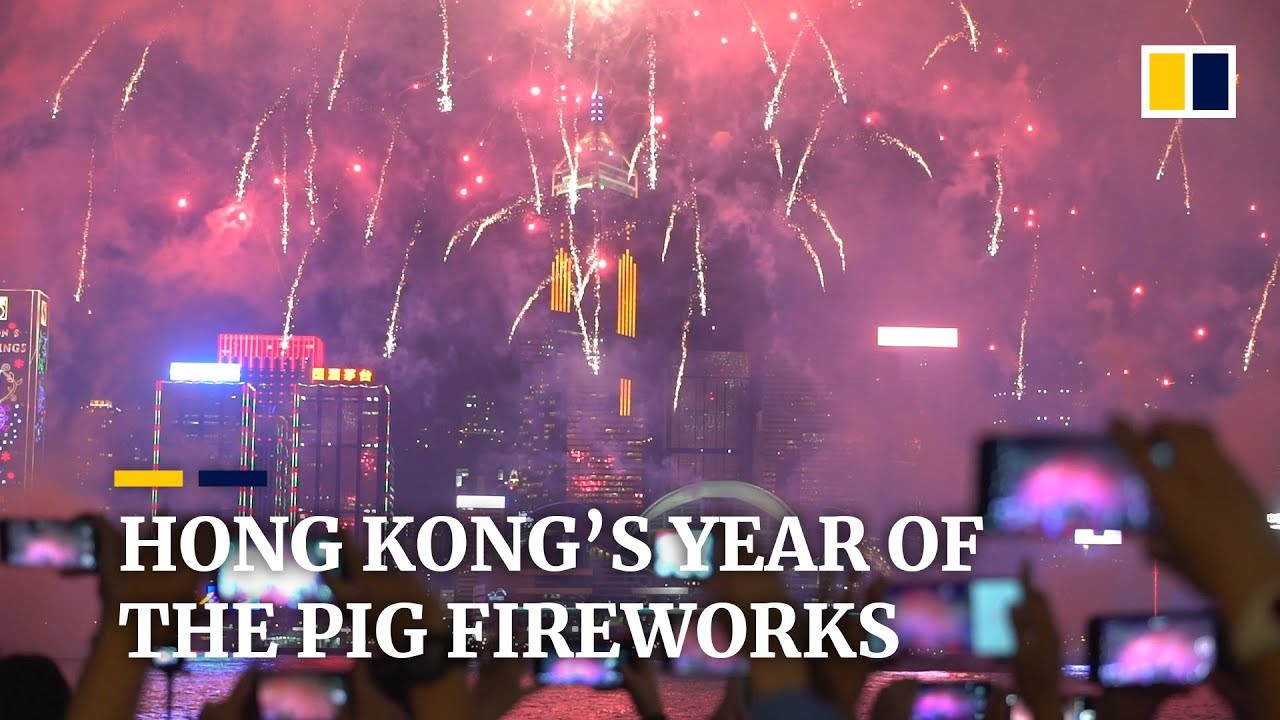 Hong Kong's Year of the Pig fireworks