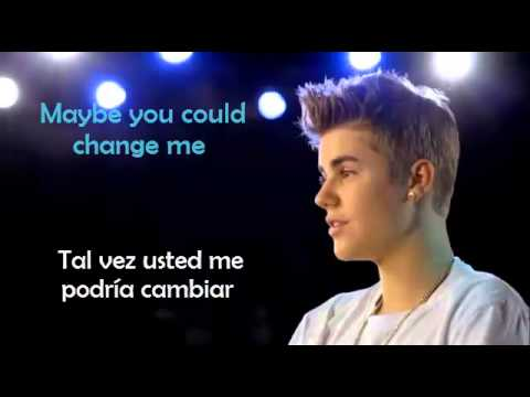 Change Me Justin Bieber Lyrics Letra En Español Ingles