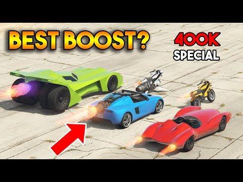 GTA 5 ONLINE : WHICH HAS STRONGEST BOOST? (OPPRESSOR MK II, VIGILANTE, SCRAMJET, ETC) [400k Special]