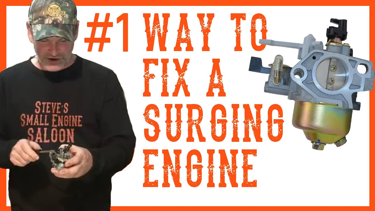 how do i fix a surging engine video lawn mowers tillers pressure washers etc  [ 1280 x 720 Pixel ]