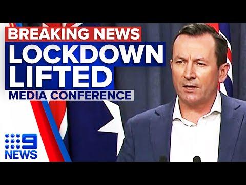 Coronavirus: Perth lockdown lifted from midnight | 9 News Australia
