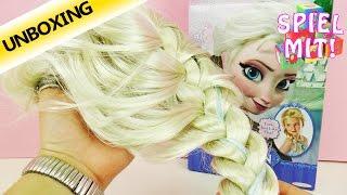 Disney Frozen Elsa Perücke | Verkleidung als Eiskönigin mit Glitzersträhnchen | Unboxing