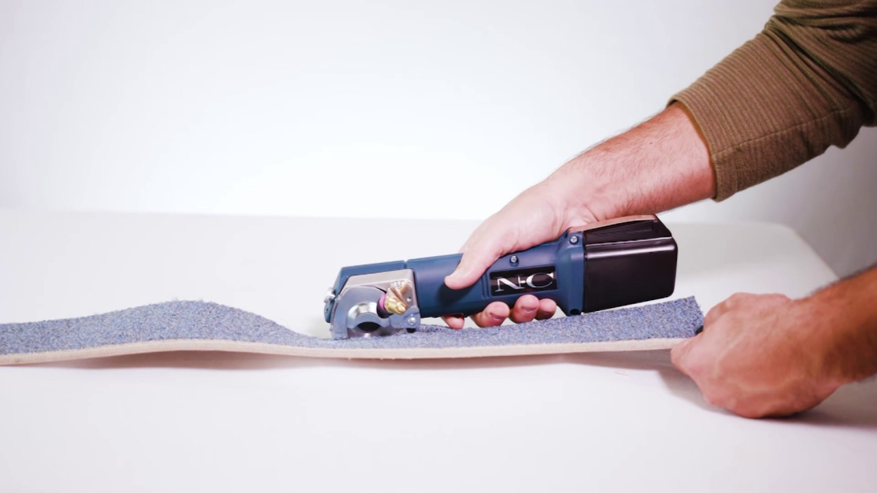 Cordless Carpet Cutter Pad Leather Nomex Nc360 Youtube