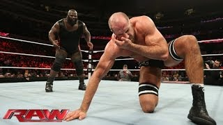 Mark Henry & Big E Langston vs. The Real Americans: Raw, Dec. 16, 2013