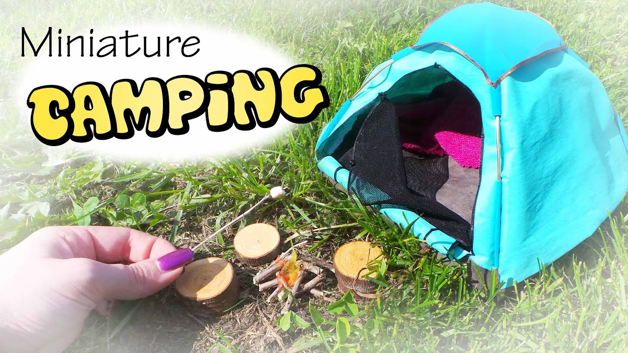 Miniature Camping Tent Campfire Tutorial Dolls Dollhouse