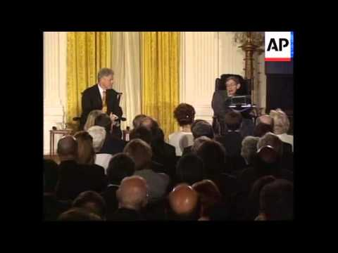 USA: BRITISH PHYSICIST STEPHEN HAWKING LECTURE AT WHITE HOUSE