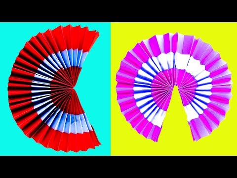 How to Make a Amazing Paper Fan | Origami | Diy Hand Fan Out of Color Papers | NK Crafts