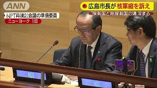 「全ての国が核軍縮への対話を」国連で広島市長訴え(19/05/02)