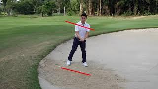 Golf Tips Downhill bunker shot