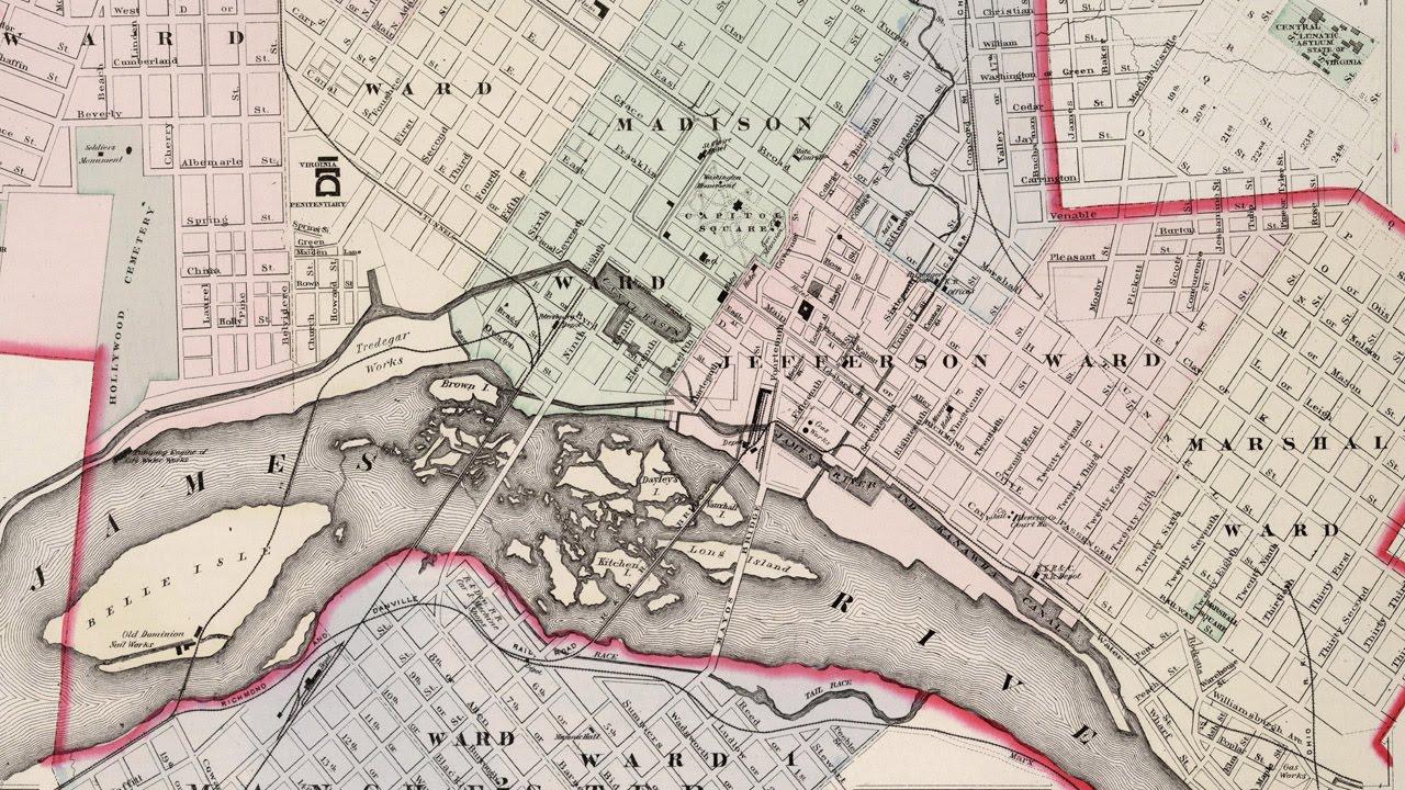 Richmond Virginia Map (1884) - YouTube