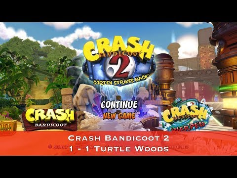Crash Bandicoot 2 - 1 - 1 Turtle Woods - Сбор всех кристаллов