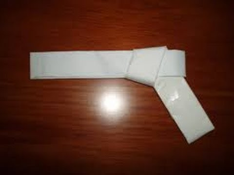 How to make a rubber band gun out of paper easy youtube for Easy things to make out of paper