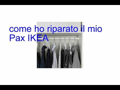 Armadio Pax Ikea 2 Ante.Riparazione Armadio Pax Ikea Youtube