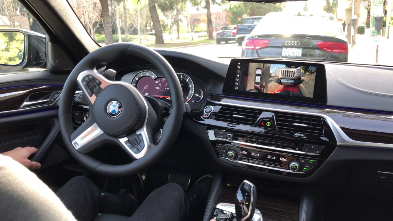 Bmw Parking Assistant Plus In Action On 540i