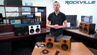 "Unboxing Rockville APM5 5.25"" 2-Way 250W Active/Powered USB Studio Monitor Speakers Pair"