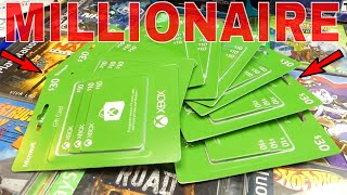 GIFT CARD MILLIONAIRE!!! Dumpster Dive Gamestop Finds (WEEK 95)