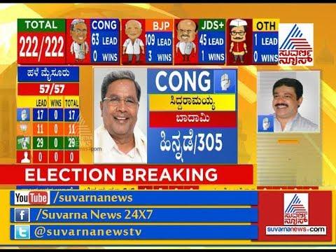 Karnataka Election Results 2018 : Huge Set Back For Siddaramaiah Both In Badami & Chamundeshwari