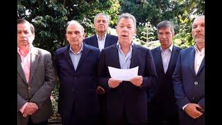 Expresidente Santos pide a la JEP expulsar a guerrilleros que quieren volver a las armas