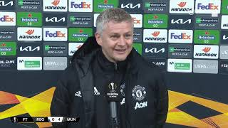 """We deserved to win against a good team"" Ole Gunnar Solskjaer reacts to Real Sociedad 0-4 Man Utd"