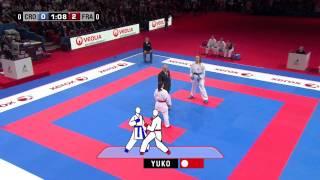 (1/3) Karate Croatia vs France. Final Female Team Kumite. WKF World Karate Championships 2012