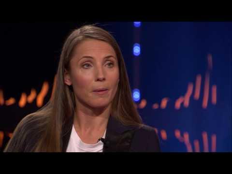 Tuva Novotny gästar Skavlan och pratar om kommande filmen Borg vs McEnroe | SVT/NRK/Skavlan