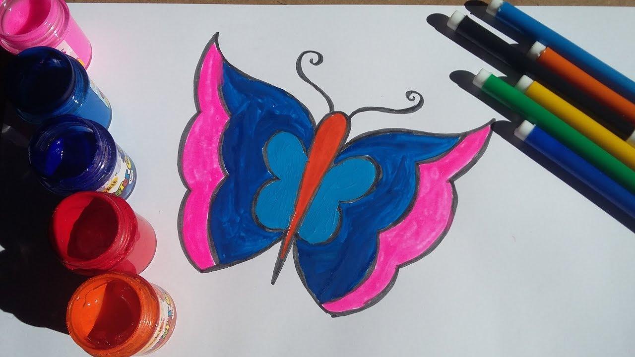 How To Draw Butterfly – Vẽ Con Bướm Đơn Giản.