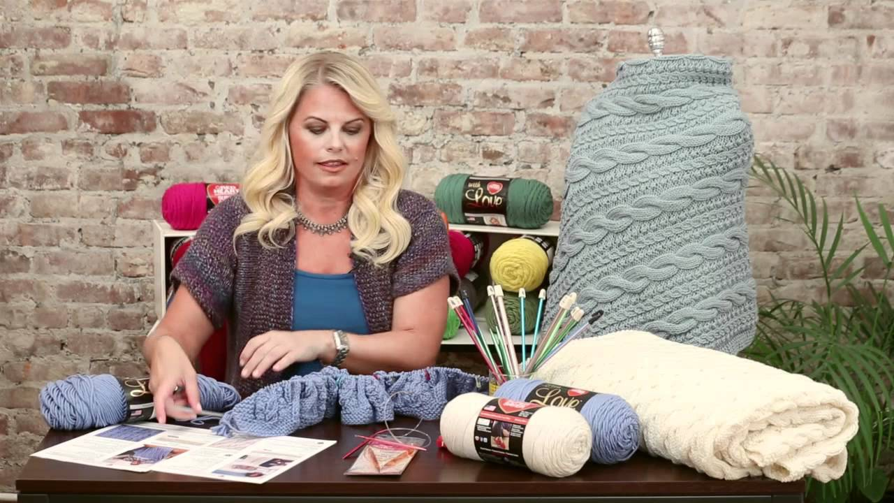 Knitting A Blanket On Circular Needles : Knit rows on circular needles with red heart youtube
