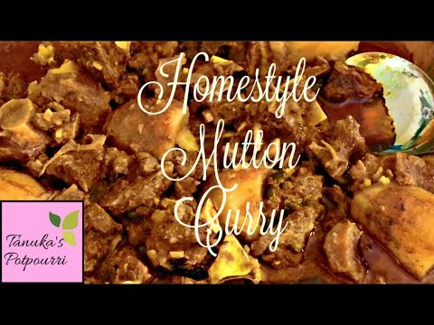 Easy Homestyle Mutton Curry Recipe || Slow Cooker Recipe || Crock Pot Recipe || Goat Curry Recipe