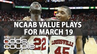 NCAA Basketball Picks | Odds Couple | Sunday, March 19th