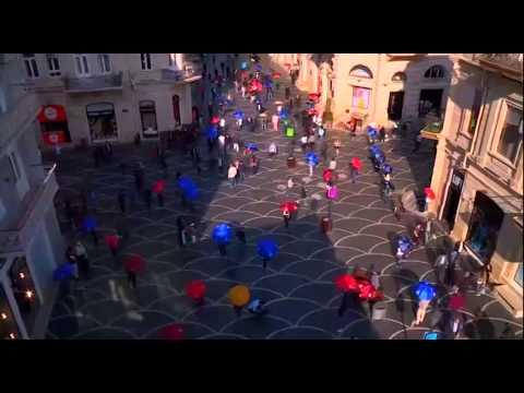 Umbrella Flashmob Baku