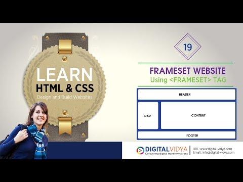 [Telugu Tutorial] Html Frame Sets To Create Web Site - HTML TELUGU TUTORIALS