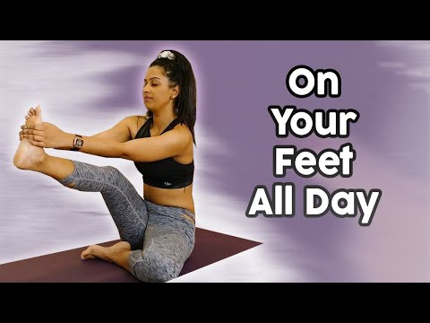 Yoga for Foot & Ankle Pain, Daily Stretch Routine, 20 Min Class, Ankle & Hip Mobility, Toe Stretches